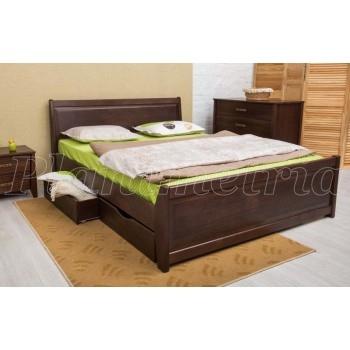 Кровать Сити 1600 с ящиками филёнка