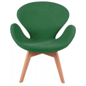 Кресло Сван Вуд зеленое