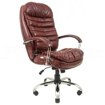 Офисное кресло для руководителя Валенсия хром