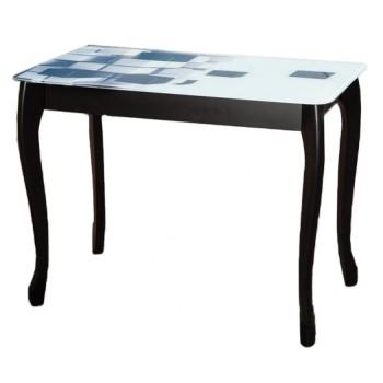Стол Смарт черный+стекло