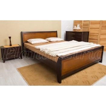 Кровать Сити 1600 с изножьем интарсия