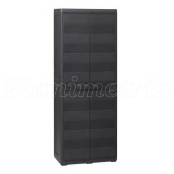 Шкаф двухдверный Elegance S black-2
