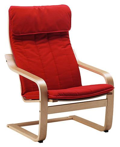 кресло деревянное аледо красное купить деревянное кресло качалка