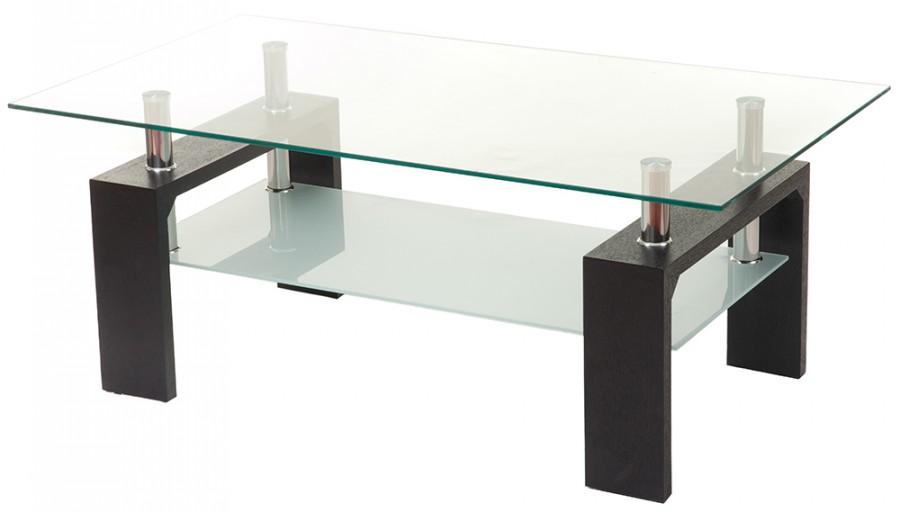 Стеклянный журнальный стол