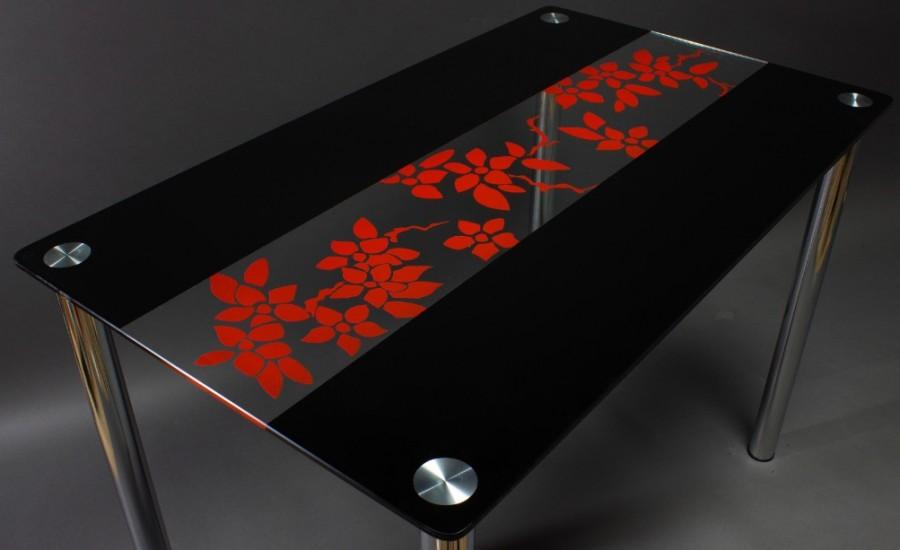 Фото черных стеклянных столов