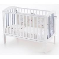 Детская кроватка-трансформер Соня ЛД10 бело-серая