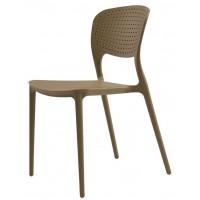 Пластиковый садовый стул Spark beige (Спарк серый бежевый)