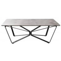Стол журнальный Luton керамика светло-серый глянец (Лутон) 1250х700