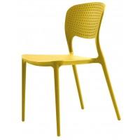 Пластиковый стул Spark yellow-curry (Спарк желтый карри)