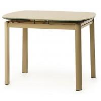 Раскладной стеклянный стол Т-600-2 coffe (Т-600-2 кофе мокко) 1000х700