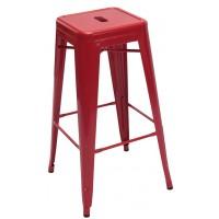 Высокий барный стул-табурет Tolix MC-011 red (Толикс МС-011 красный) H-660
