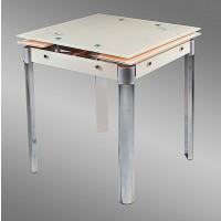 Стол стеклянный раскладной B179-44 beige (В179-44 бежевый) 650х650