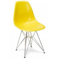 Стул Eames chrome yellow (Эймс желтый)