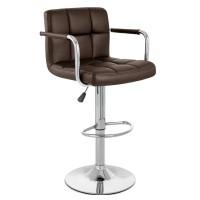 Высокий барный стул HY 356-3A brown (HY 356-3А коричневый)