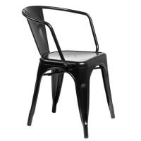 Кресло металлическое Tolix MC-005A black (Толикс МС-005А черное)