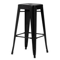 Высокий барный стул-табурет Tolix MC-012 black (черный) H-760