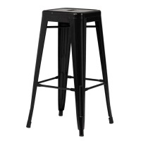 Высокий барный стул-табурет Tolix MC-011 black (черный) H-660