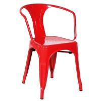Кресло металлическое Tolix MC-005A red (Толикс МС-005А красный)