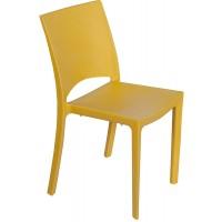 Барный пластиковый стул Woody senape (Вуди желтая горчица)