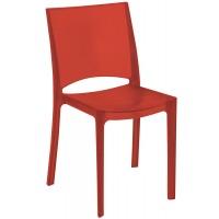 Барный пластиковый стул Nilo rosso rubino (Нил прозрачный рубиново-красный)