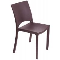 Барный пластиковый стул Woody moka (Вуди мокко)