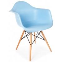 Кресло Tower wood arm blue (Тауэр вуд голубой)