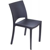 Барный пластиковый стул Woody antracite (Вуди антрацит)