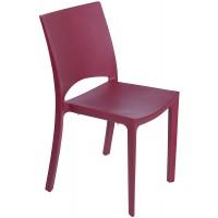 Барный пластиковый стул Woody rosso bordeaux (Вуди рубиново-красный)