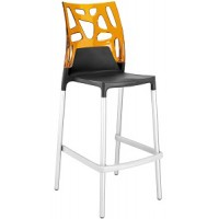 Барный стул пластиковый Ego-Rock Bar09 orange