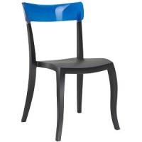 Барный стул пластиковый Hera-S trasparente blue black