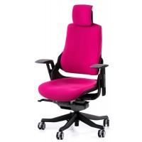 Офисное кресло для руководителя WAU magenta fabric (малиновое)