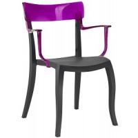 Барный стул пластиковый Hera-K trasparente violet black
