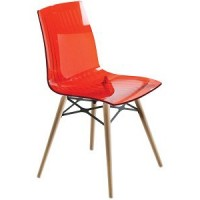 Барный стул пластиковый X-Treme Wox red N (прозрачный красный)
