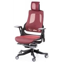 Офисное кресло для руководителя WAU deepred network (темно-красное)