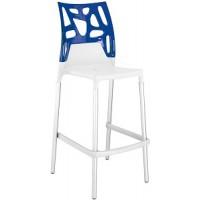 Барный стул пластиковый Ego-Rock Bar01 blue