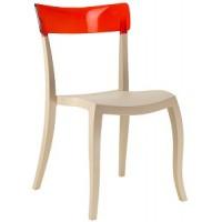 Барный стул пластиковый Hera-S trasparente red beige