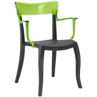 Барный стул пластиковый Hera-K trasparente green black