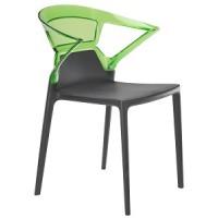 Барный стул пластиковый Ego-K green antracite