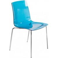 Барный стул пластиковый X-Treme S blu (прозрачный)