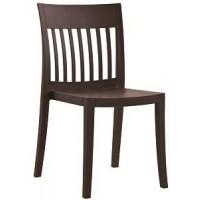 Барный стул пластиковый Eden-S matt brown