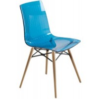 Барный стул пластиковый X-Treme Wox blu N (прозрачный синий)