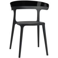 Барный стул пластиковый Luna solid black
