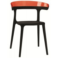 Барный стул пластиковый Luna red black