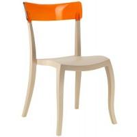 Барный стул пластиковый Hera-S trasparente orange beige