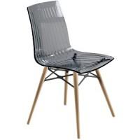 Барный стул пластиковый X-Treme Wox antracite N (прозрачный антрацит)