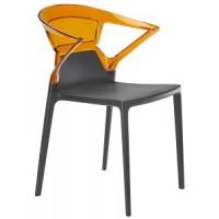 Барный стул пластиковый Ego-K orange antracite