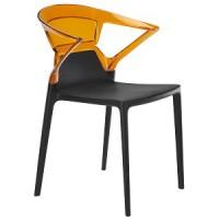 Барный стул пластиковый Ego-K orange black