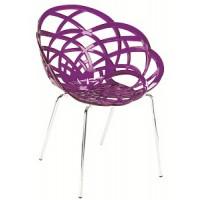 Cтул пластиковый Flora ML purple (Флора фиолетовый)