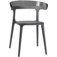 Барный стул пластиковый Luna solid antracite