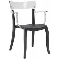 Барный стул пластиковый Hera-K trasparente black